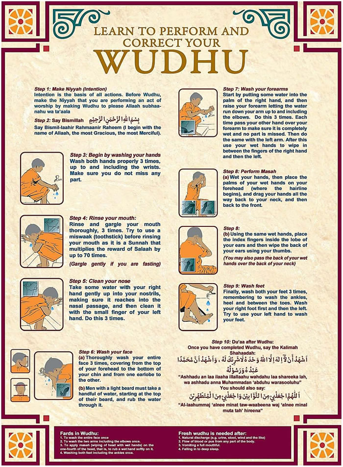 Learn To Perform and Correct Your Wudhu